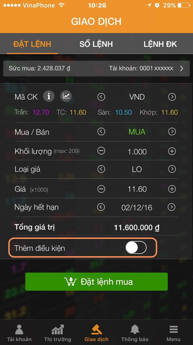 Huong dan lenh rinh mua ban IOS 1