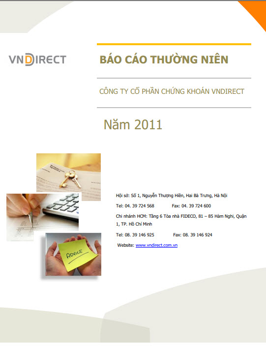Báo cáo năm <span> 2011</span>