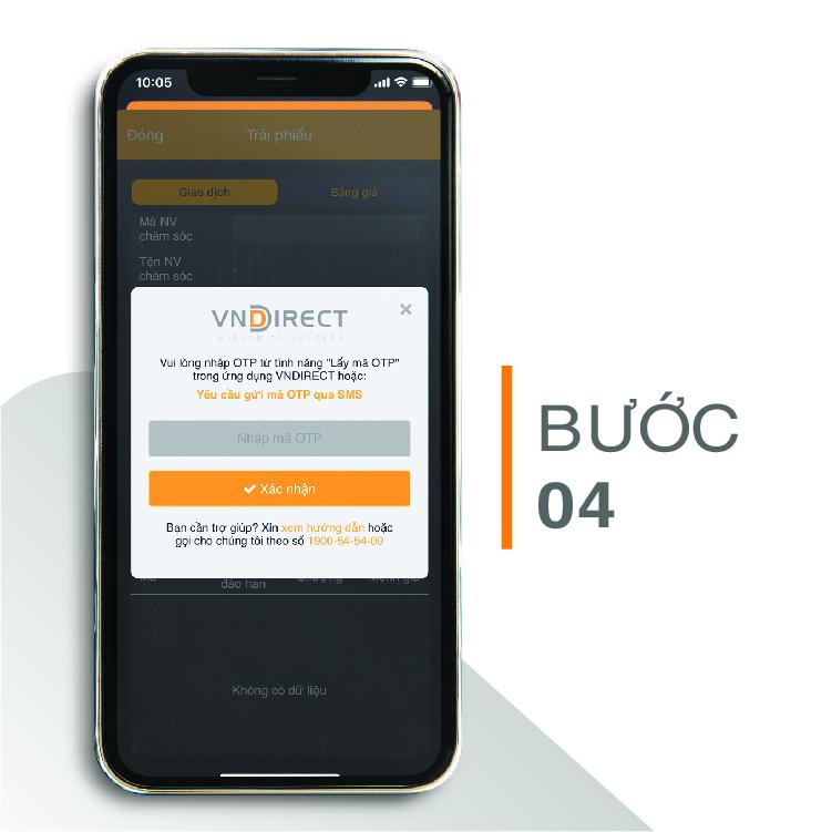 Hướng dẫn giao dịch trái phiếu trên mobile app VNDIRECT trading