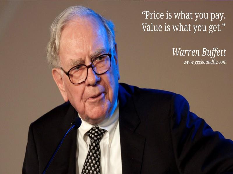 Làm quen đầu tư giá trị cùng Warren Buffett